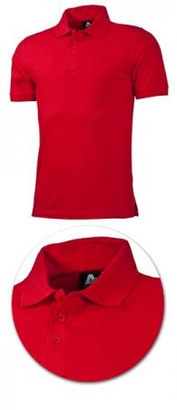 Рубашка поло с коротким рукавом 1718 красная. Уменьшенная фотография.