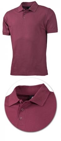 Рубашка поло с коротким рукавом 1718 бордо. Уменьшенная фотография.