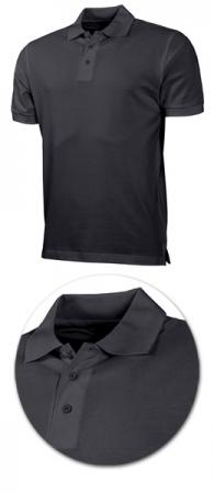 Рубашка поло с коротким рукавом 1718 черная. Уменьшенная фотография.