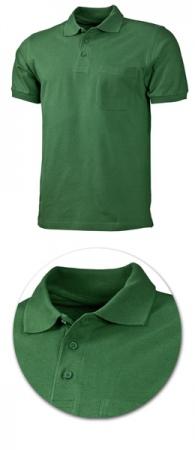 Рубашка поло с кармашком модель 1721 зеленая. Уменьшенная фотография.