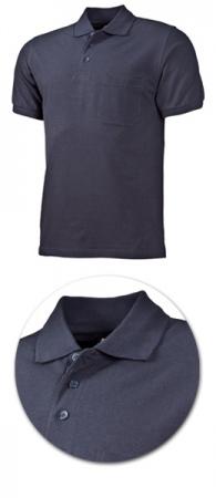 Рубашка поло с кармашком модель 1721 темно-серая. Уменьшенная фотография.