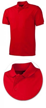 Рубашка поло с кармашком модель 1721 красная. Уменьшенная фотография.