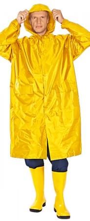 Плащ влагозащитный ФОРЕСТ ПВХ желтый. Уменьшенная фотография.