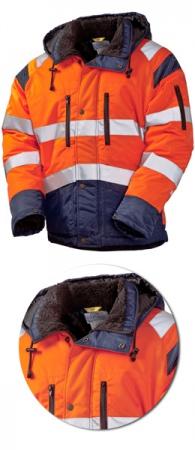Оранжевая зимняя куртка SWW 4677T-77/14 Дорожник. Уменьшенная фотография.