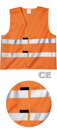 Сигнальный жилет SWW Евро-СЕ цвет оранжевый. Уменьшенная фотография.