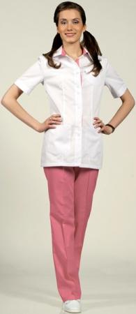 Модель костюма 8-887-915 белый с розовым. Уменьшенная фотография.