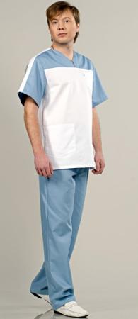 Комплект медицинский мужской модель 543 комби. Уменьшенная фотография.