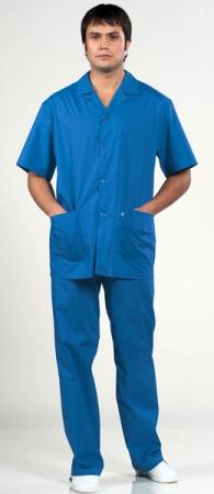 Костюма хирурга 8-608 Классика светло синий. Уменьшенная фотография.