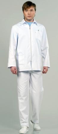 Мужской костюм для мед персонала 8-511 на молнии . Уменьшенная фотография.