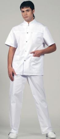 Мужской мед костюм 536 Персонале цвет белый. Уменьшенная фотография.