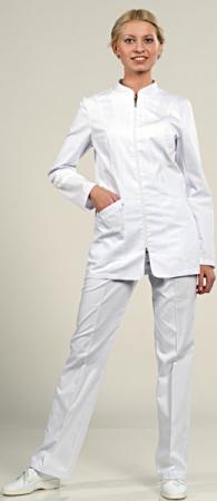 Женский медицинский костюм 884 на молнии. Уменьшенная фотография.
