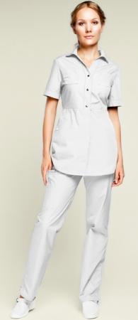 Белый медицинский костюм Камея модель 948. Уменьшенная фотография.