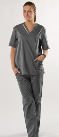 Женский костюм хирурга hm оригинальный серый. Уменьшенная фотография.