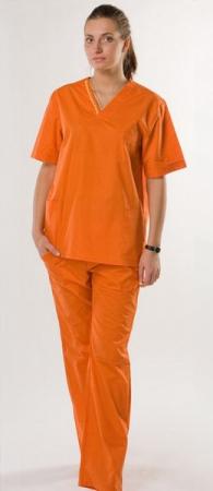 Костюм хирурга женский hm приятный оранжевый. Уменьшенная фотография.