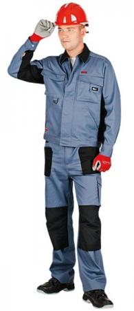Летние рабочие брюки Спец Авангард цвет серый. Уменьшенная фотография.