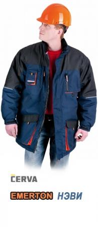 Куртка утепленная ЭМЕРТОН НЭВИ. Уменьшенная фотография.