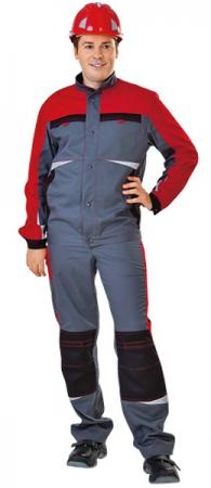 Куртка рабочая СПЕЦ new Томбой серая с красным. Уменьшенная фотография.