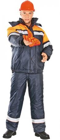 Модель костюма АКТИВ с оранжевой отделкой. Уменьшенная фотография.