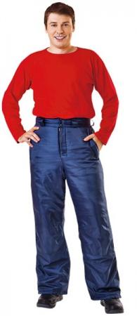 Зимние рабочие брюки ФЛАЙ в синем цвете. Уменьшенная фотография.
