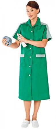 Халат рабочий женский ВИКТОРИЯ цвет зеленый. Уменьшенная фотография.