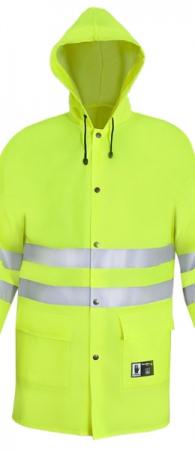 Желтая сигнальная куртка непромокаемая PROS-1101. Уменьшенная фотография.