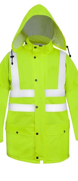 Куртка сигнальная PROS-085 полиамидный трикотаж ПУ
