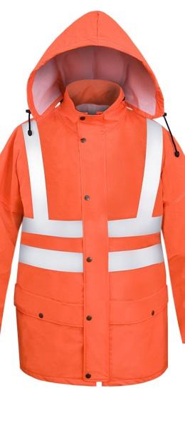 Легкая непромокаемая куртка PROS-085 сигнальная