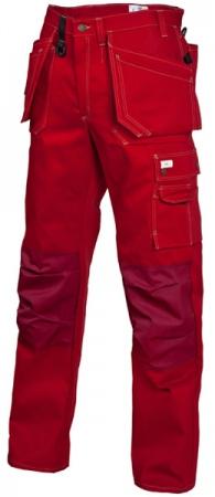 Рабочие брюки красного цвета 250T-FAS хлопок. Уменьшенная фотография.