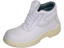 Рабочие ботинки белые WS с защитным подноском. Уменьшенная фотография.